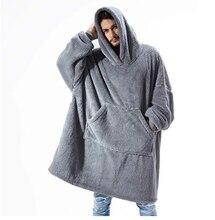 Толстое однотонное одеяло с капюшоном