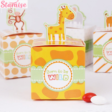 Staraise 20pcs Circus Animal Paper Candy Box Birthday Party Decorations Kids Baby Shower Goodie Bag Gift Cupcake Chocolate