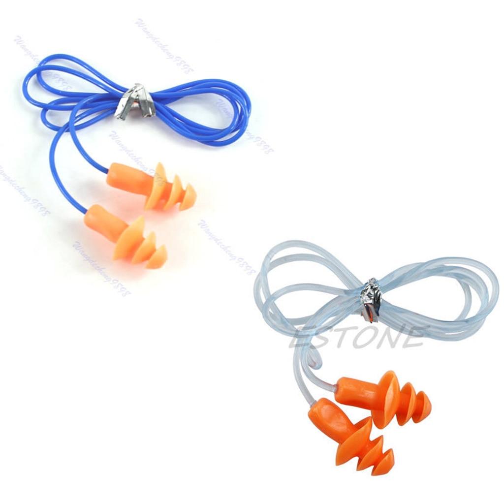 Drop Ship Soft Silicone Ear Plug Hearing Protector Hearing For Swimming Sleeping 24dB