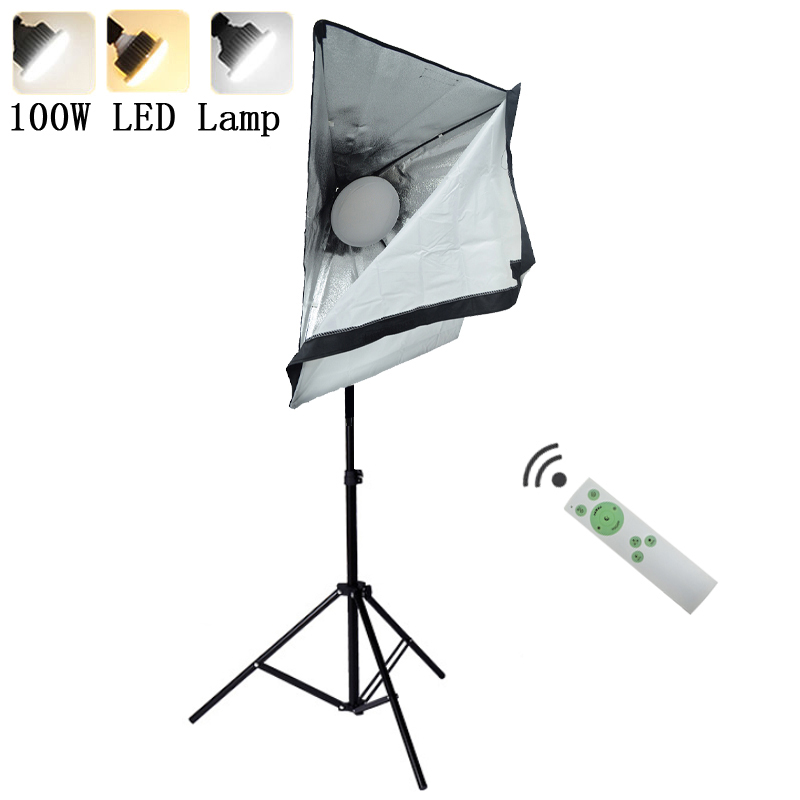 Photography Continuous Lighting Kits 220V 100W LED Fill Lamp with Lighting Softbox Light Stand Tripod Photo Studio Accessories image