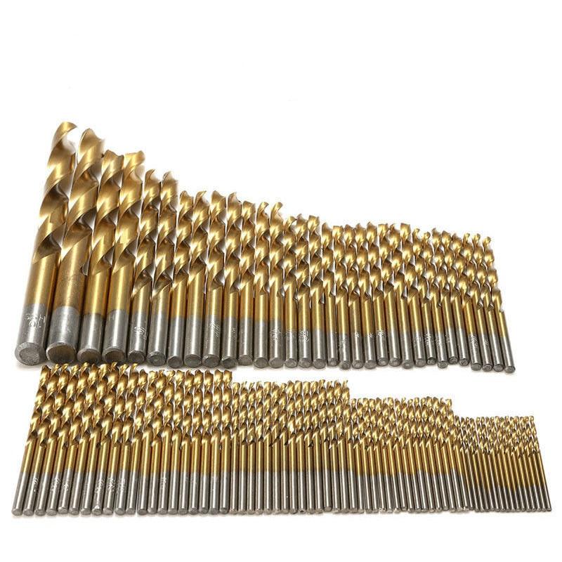 99Pcs 1.5-10mm Twist Drill Bits Titanium Straight Shank Electric Drill Power Tools Accessories Ferramentas Herramientas
