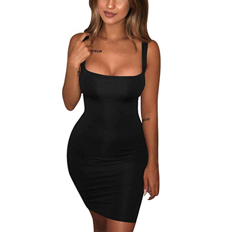 He3ad3d58074e449d8ff73e0ef24f6429z Robe Sexy Club Dresses Summer Solid Color Backless Spaghetti Straps Nightclub Dress Bodycon Mini Sundress Elegant Party Vestidos
