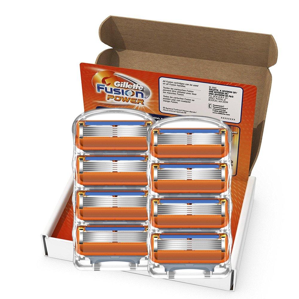 Original Gillette Fusion Menshaver Razor Blade Refills Soft Power Face Care Brands Shaving Blades 4/8/12pcs/BOX