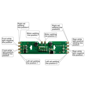 Image 2 - 4/5/10pcs 1:87 HO Scale Upgraded PCB Board Part with Resistance for HO Scale for Bachmann Model Building Kit