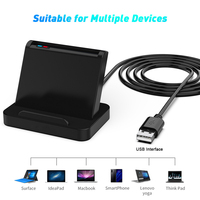 Lettore di schede Sim a circuito integrato Smart Card USB Scr816 portatile per Windows 10 8 7 Max sistema operativo Linux