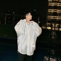 Men Shirt Oversize Long Sleeve Loose Casual Shirt Male Women Streetwear Hip Hop Vintage Fashion Party Dress Shirts