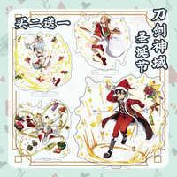 Sword Art-figura de acrílico con tema de Navidad en línea, modelo Asada Shino Yuuki Asuna, juguete de Decoración de mesa, regalos de disfraz