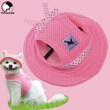 PTHAFUN Pets Dog Hat Accessories For Dogs Cap With Ear Holes For Puppy Supplies To Pet Grooming Dress Up Hat Outdoor Cap Headdre