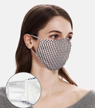 women men Silver Fiber cotton mask Protective PM2.5 face masks Activated Carbon FilterAnti  dust Mask Fabric mouth Mask washable