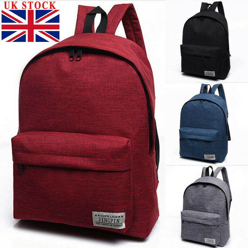 Canvas Men Women Backpack College High Middle School Bags For Teenager Boy Girls Laptop Travel Backpacks Mochila Rucksacks