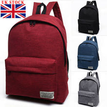 Canvas Men Women Backpack College High Middle School Bags Fo