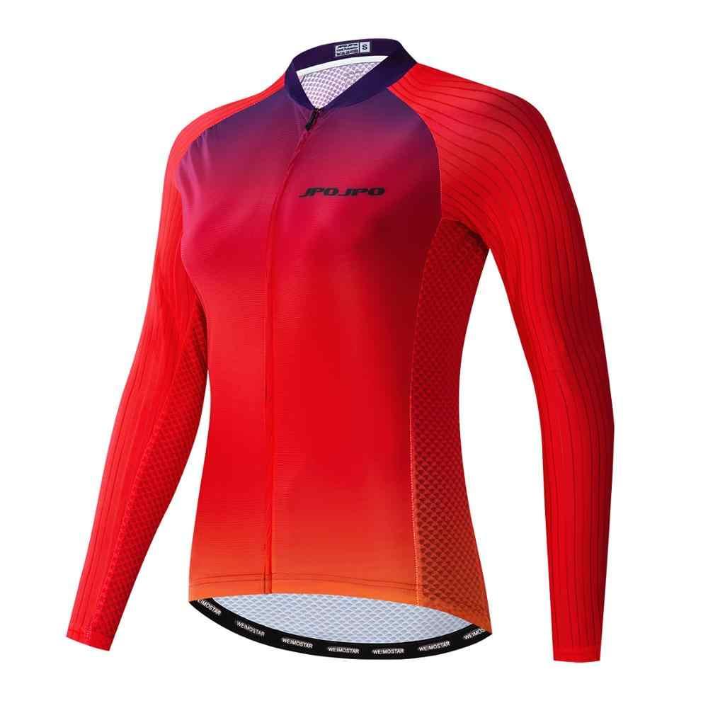 Delle donne Maglietta A Maniche Lunghe Ciclismo Camicia Della Signora Leggero di Sport Equitazione Abbigliamento Mountain Bike Mtb Della Bicicletta Vestiti di Squadra Della Bici Giacca disegno