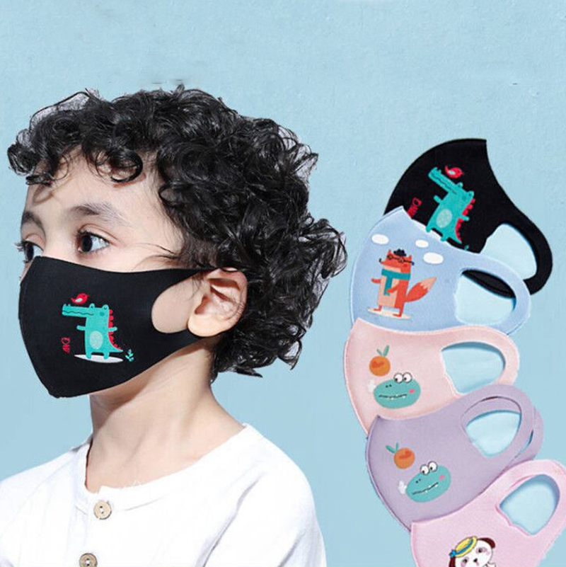 Cute PM2.5 Washable Mouth Mask Kids Children Cartoon Animal Anti-Fog Anti-Dust Breathable Face Masks