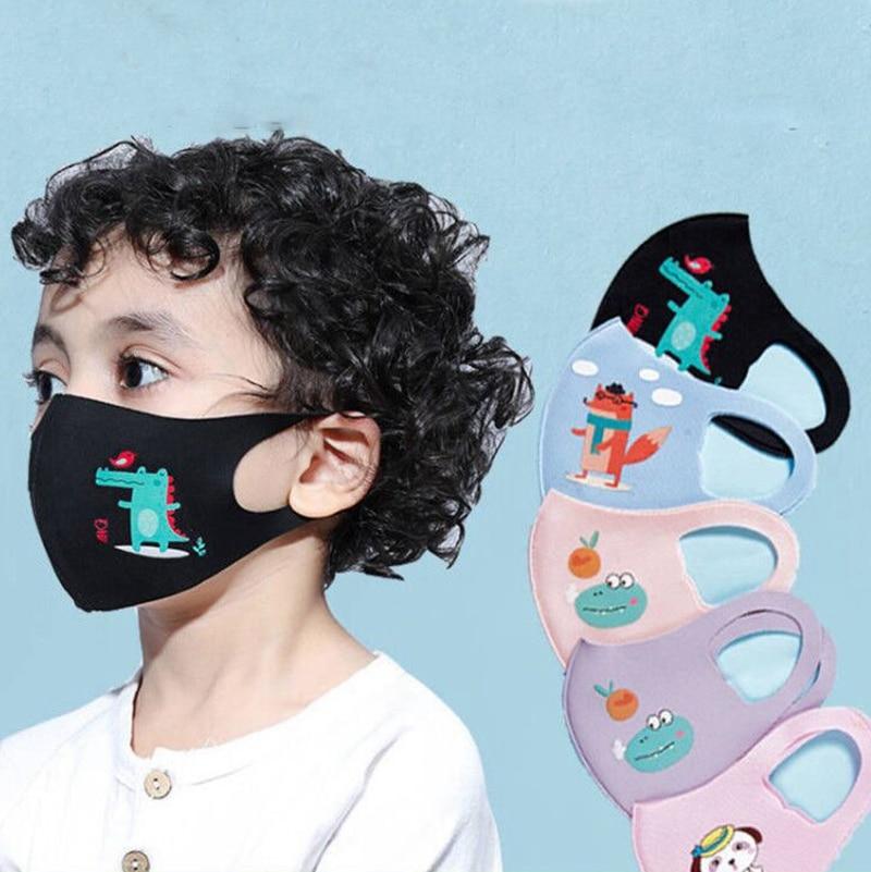 Cute PM2.5 Washable Mouth Mask Kids Children Cartoon Animal Anti-Fog Anti-Dust Breathable Face Masks