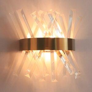Image 3 - Treo Tường Đèn Phòng Ngủ Bên Cạnh Vàng Đèn Treo Tường AC 90 260V Phòng Tắm Đèn Led Dán Tường Sconce
