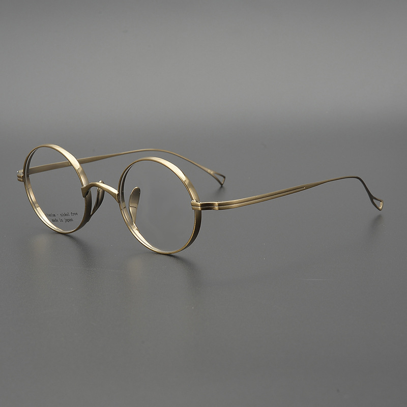 Titanium Glasses Frame Men Vintage Clear Round Glasses Prescription Eyewear Frames Myopia Optical Eyeglasses Spectacles Oculos