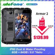 "Smartphone ulefone armor 2 ip68, celular à prova d água, 6gb + 64gb, tela de 5.0 "", helio p25, núcleo octa core, nfc, 4700mah 4g 16.0mp telemóvel"