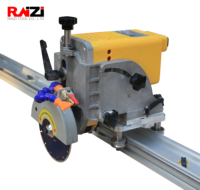 Raizi portable 45 degree miter cutting saw cutter chamfer machine with rail guide for large format porcelain ceramic tile stone