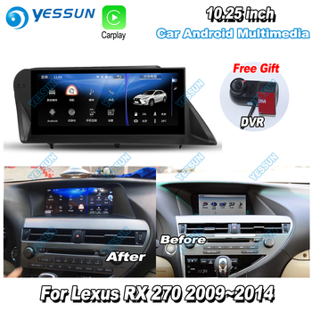 For Lexus RX270 RX 270 2014 2015 2016 2017 Car Android Multimedia GPS Navigation Player Radio Stereo DVR Driving Video Recorder