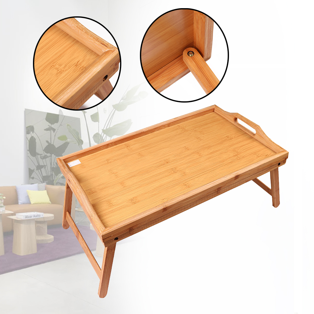 Image 5 - Foldable Breakfast Lap Tray Home Reading Laptop Desk Drawing Wood Bed Table Solid Serving Kids Portable MultipurposeLaptop Desks   - AliExpress