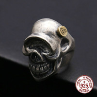 925 sterling silver ring domineering skull styling couple fashion personality retro simple ring to send lover gift hot 2019 new