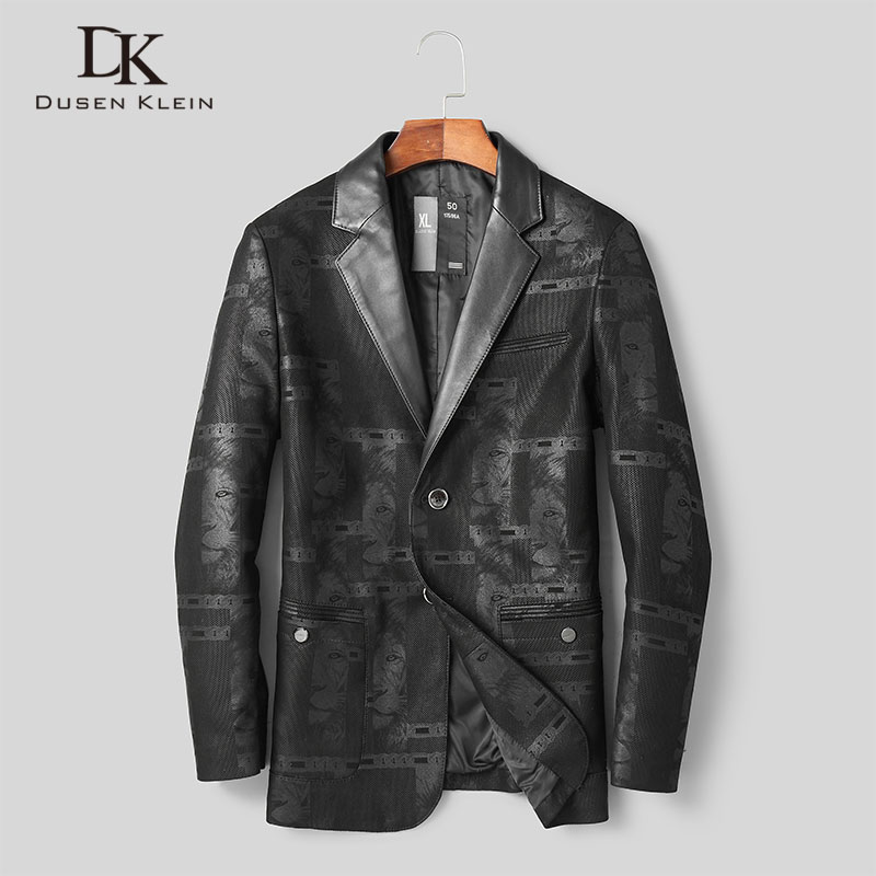 Men Genuine Leather Jacket Real Sheepskin Jackets Casual Short Black Pockets 2019 Autumn New Coat For Man D1902