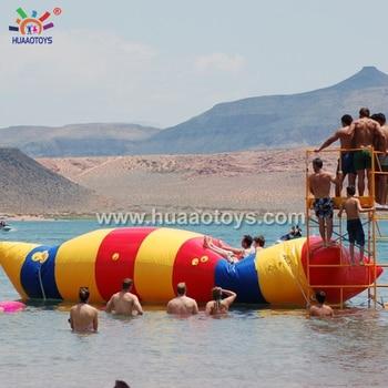 цена на 2020 New 10*3m Inflatable Water Blob Jump Inflatable Water Blob for Sale with free shipping by FEDEX/DHL