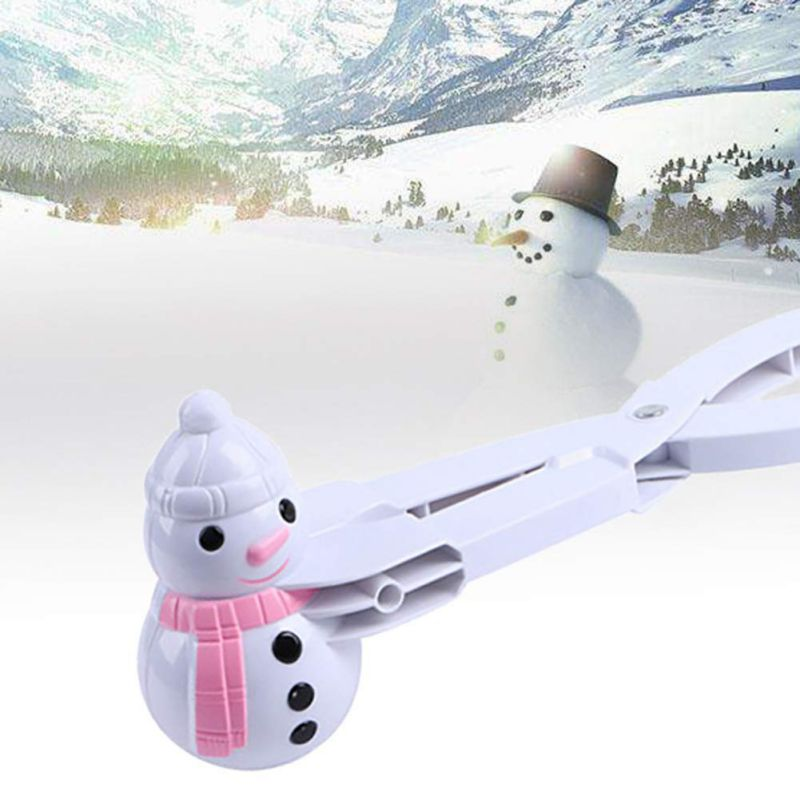 Snowman / Ball Shaped Snowball Maker Winter Snow Scoop Plastic Clip Mold Tool Kids Toy Kid Toy For Snow Game