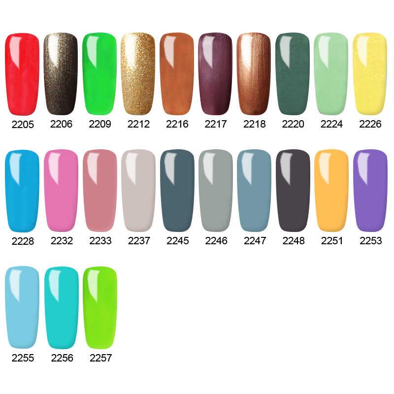 Bukio 5ml 60 สี UV GEL PURE สีเคลือบเล็บต้องการ Matte Top Coat Soak OFF เจลเคลือบเงาเล็บ
