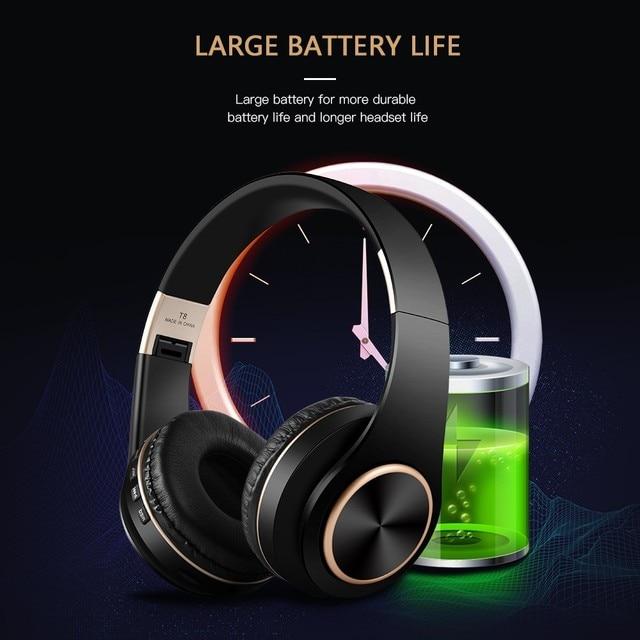 T8 HIFI stereo  bluetooth headphone music headset  4