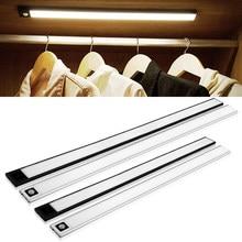 LED Cabinet Light PIR Motion Sensor Night Light with 9mm Slim Rechargeable Under Cabinet Closet Kitchen Bedroom Wall Lighting