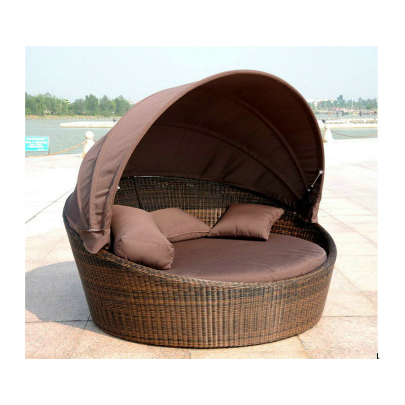 Outdoor Sofas Pe Rattan Chaise Lounge