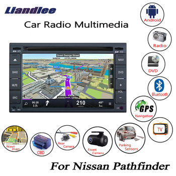 Liandlee For Nissan Pathfinder 2006~2010 Android Car Radio CD DVD Player GPS Navi Navigation Maps Camera OBD TV HD Screen Media image