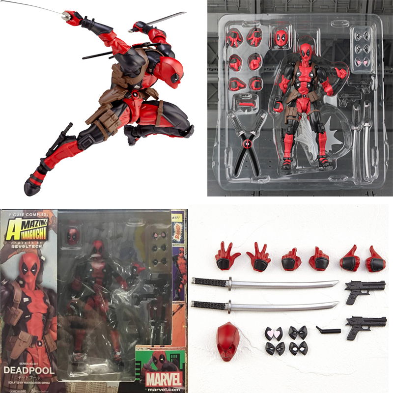 Yamaguchi Revoltech Deadpool NO.001 Action Figure Collectible Toy For Kids