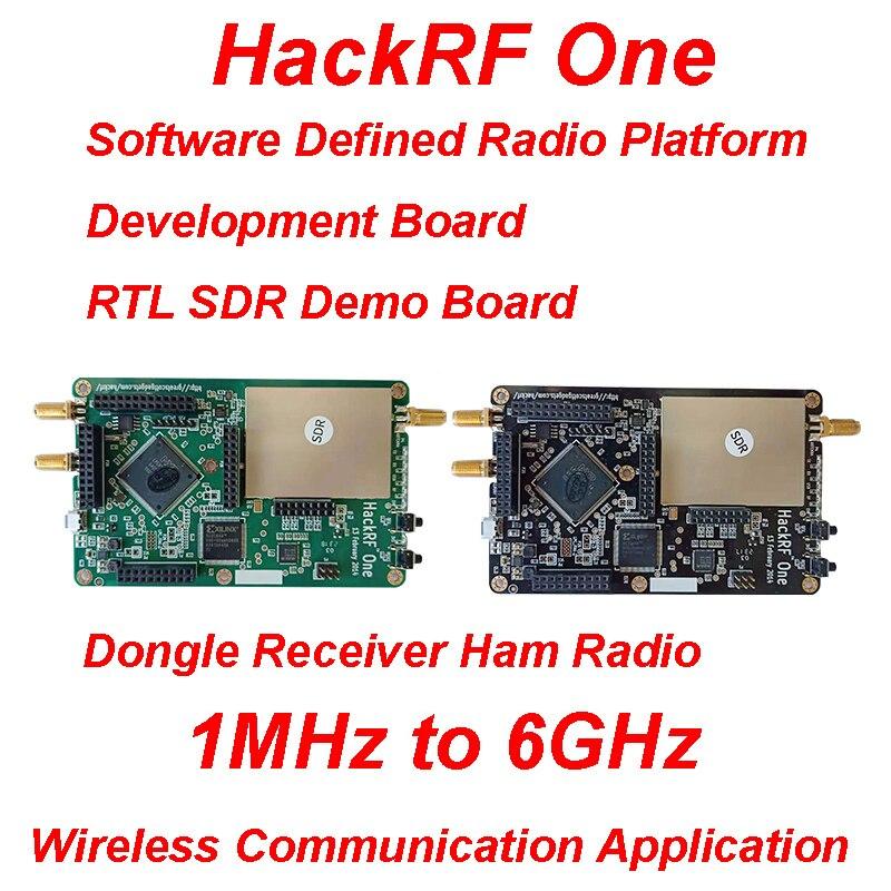 Hackrf um 1 mhz a 6 ghz software de código aberto placa desenvolvimento da plataforma de rádio kit placa demonstração rtl sdr dongle receptor rádio presunto