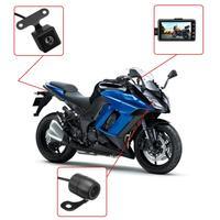 1 Set Motorcycle Camera 3 Inch LCD Hidden DVR Driving Recorder Dash Cam Waterproof Auto Recording 3.3 x 1.9 x 0.7 Inch
