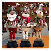 New 2020 HOT Christmas Decorations for Home Christmas Dolls Christmas Tree Decorations Elk Santa Snowman toys for baby недорого