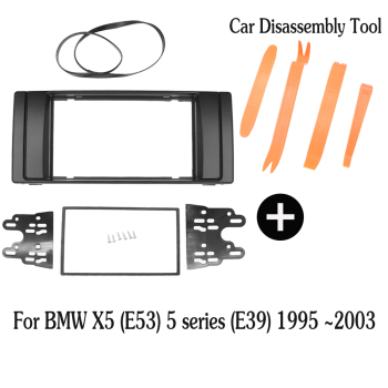 2Din Car Radio Fascia For BMW 5 Series E39 X5 E53 1995-2003 Stereo Frame Panel Dash Mount Kit Adapter 2din dvd rodean marco image