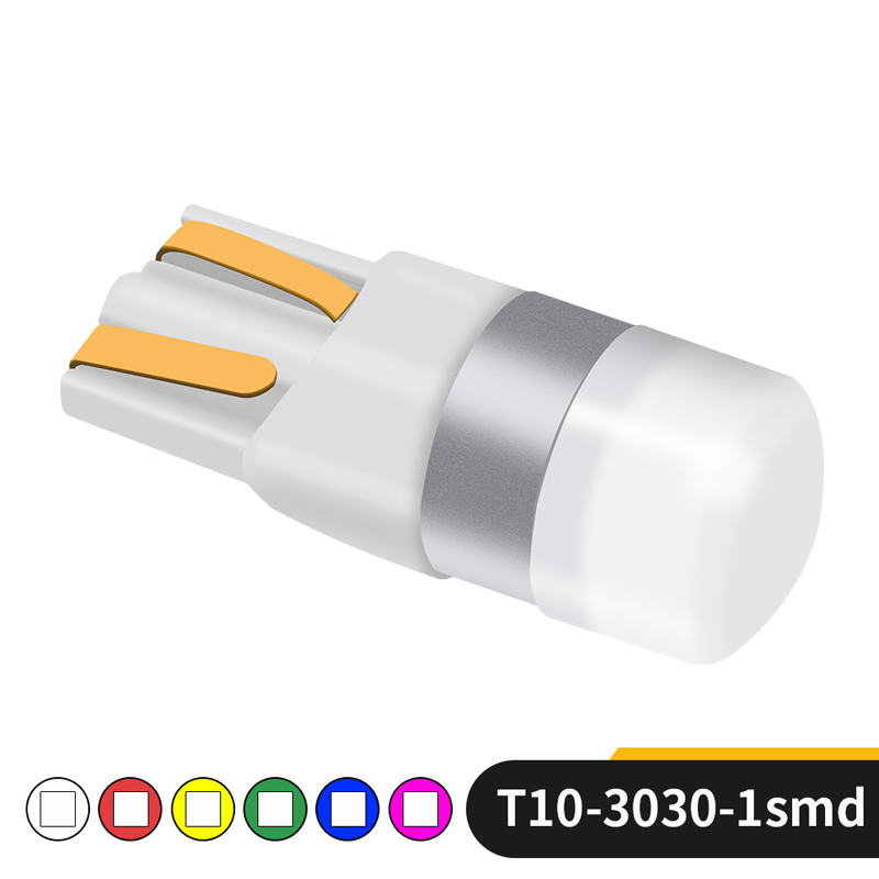 High Quality Car LED Lights Bulb T10 3030 1 SMD 12V Auto Multicolor Lamp Cars Styling Parking Fog Light