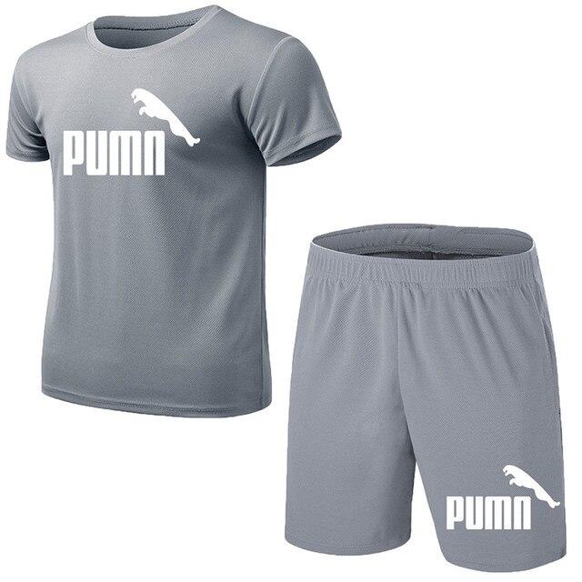 GRRCEECmen's sports coat set sport shirt men running shorts 2pcs gym suit for soccer fitness men sportswear t-shirts sets 1