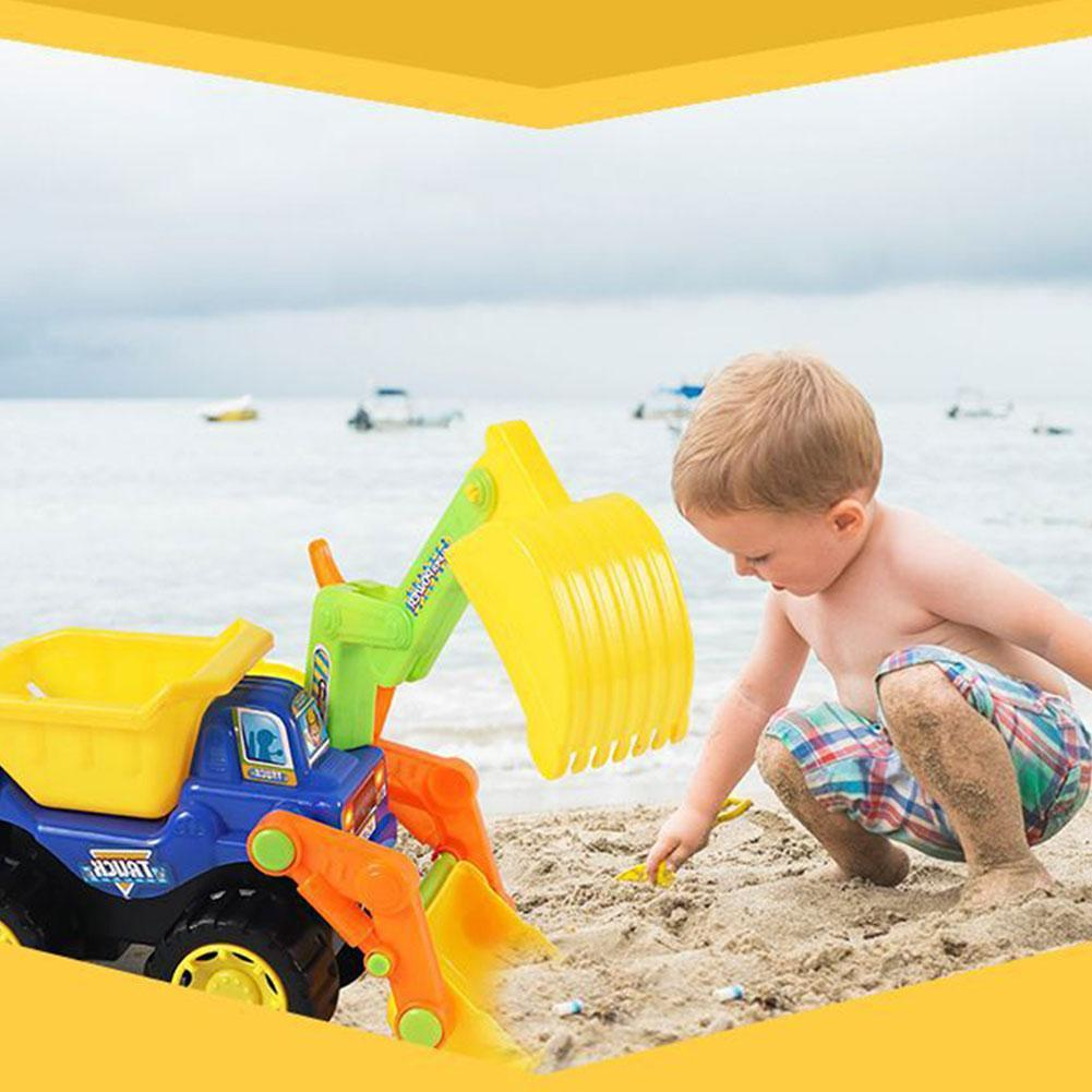 Seaside Dig Sand Shovel Soil Water Toys Babies Beach Engineering Vehicles Construction Vehicles Toy Truck Excavator Bull Summer