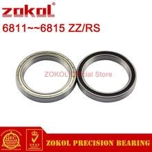 ZOKOL 6811 6812 6813 6814 6815 ZZ Z RS 2RS RZ Thin Wall Beraings Deep Groove ball bearing