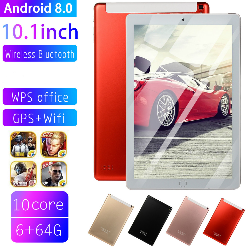 2020 NEW 10.0 Inch Tablet Pc Quad Core Original Android 8.0 6GB RAM 64GB ROM IPS Dual SIM Phone Call Tab Phone Pc Tablets