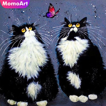 MomoArt Diamond Cat Painting Animal Embroidery Full Square New Arrival Picture Of Rhinestone Room Decoration