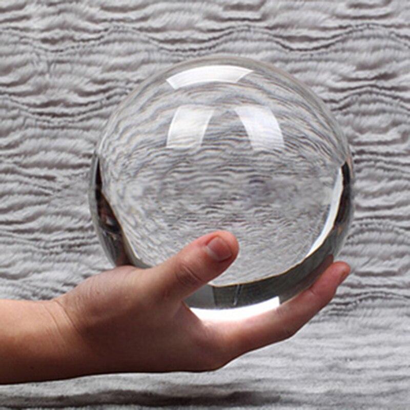 Горячая Распродажа, Азиатский кварцевый ультра прозрачный кристалл 80 мм, Волшебный реквизит для фотосъемки, шар с деревянной основой, домаш...