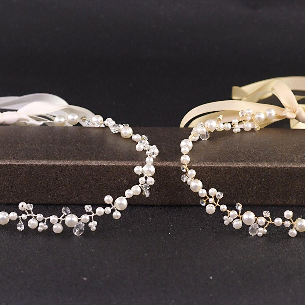 TOPQUEEN Rhinestone Wedding Hair Accessories Diamond Hair Band Wedding Headband Bridal Headpiece Silver Golden Bridal Tiara HP03
