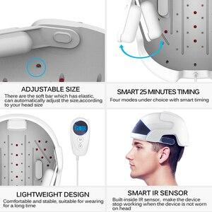 Image 5 - Laser Therapie Haargroei Helm Ce Fcc Product Behandelen Dun Haar Voor Mannen Vrouwen Infrarood Herstellen Haar Dikte Anti Haar verlies Cap