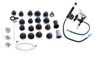 Image 4 - 28Pcs Universal Radiator Pressure Tester Vacuum Type Cooling System Test Detector Set Testeur Refroidissement