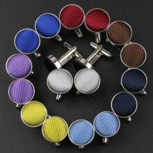 Men's Fashion Round Braided Cufflinks For Gentleman Best Man Wedding Party Suit Shirt Cuff Button Solid Brand Accessories Gift