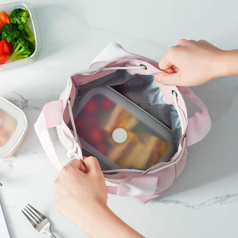 Lunch Tas Mode Draagbare Voor Werk Voor School Isolatie Zak Koreaanse Stijl Thermische Koeler Picknick Tote Hoge Kwaliteit Voor Vrouwen kid